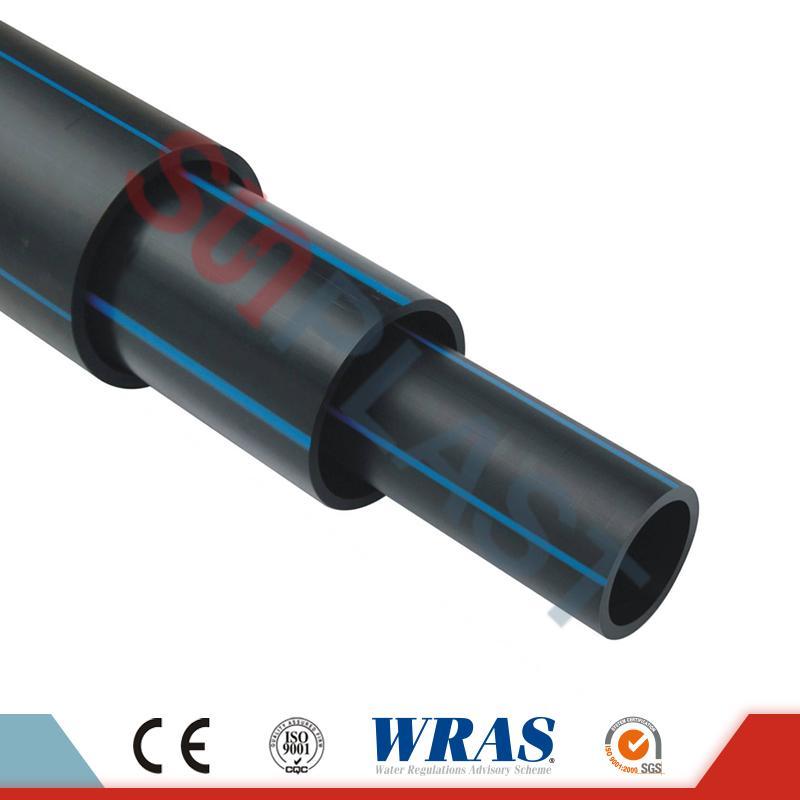 Tubo HDPE (Poly Pipe) in colore nero / blu per rifornimento idrico