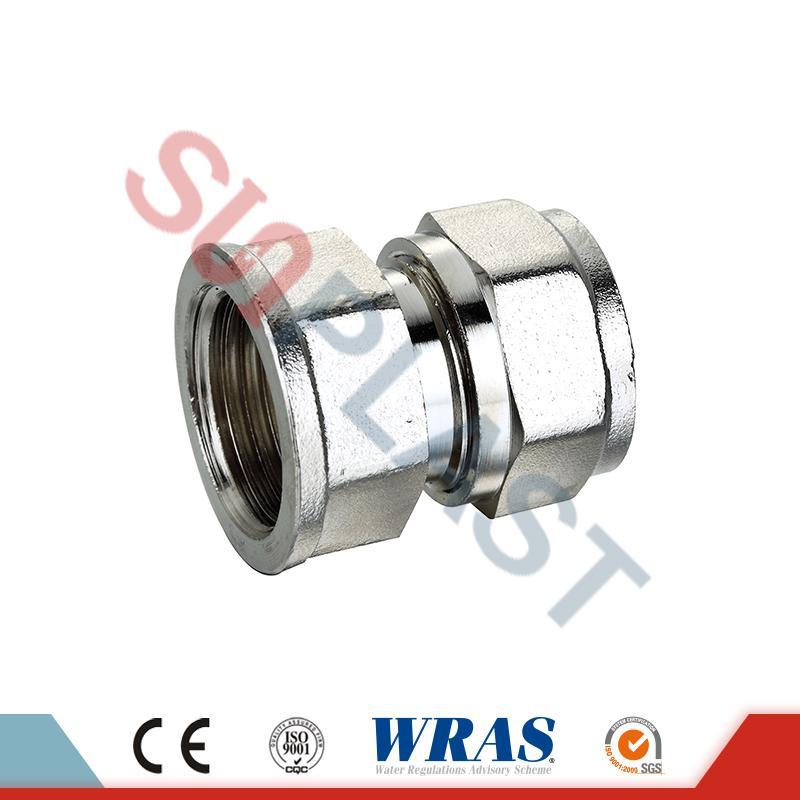 Accoppiamento femmina a compressione in ottone per tubo multistrato PEX-AL-PEX
