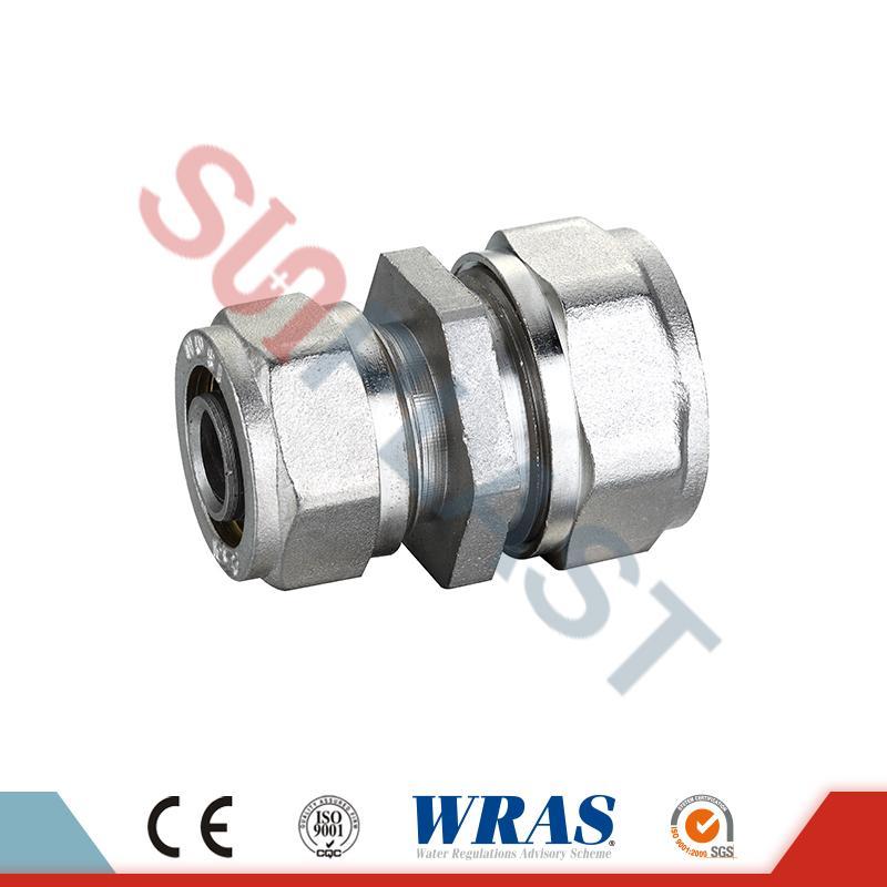 Giunto di riduzione a compressione in ottone per tubo multistrato PEX-AL-PEX